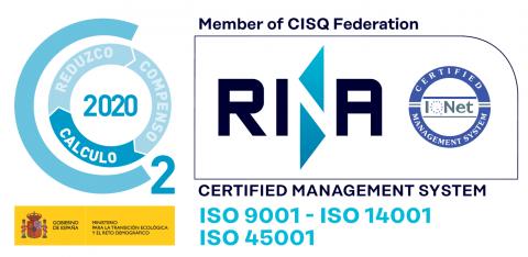 certificado ISO Mamparas LAAM