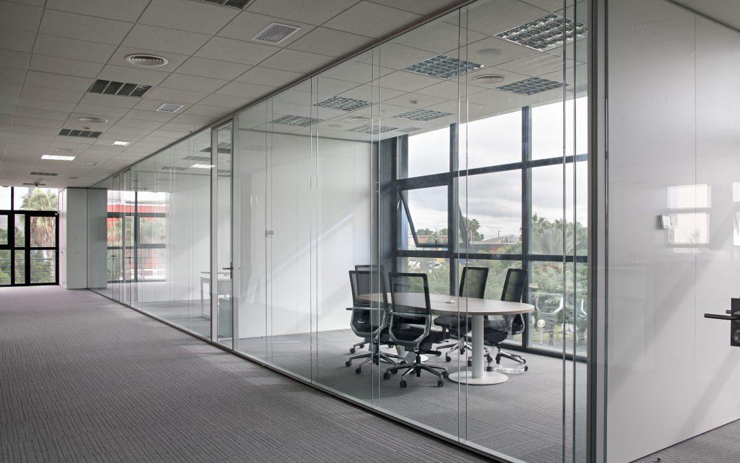 luz natural oficina mamparas divisorias